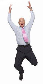 Automatic Prospecting System User Jumping for Joy because his business has been put on Autopilot!